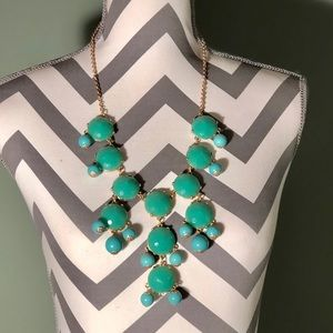 Turquoise Blue Green Long Necklace